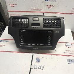 02-06 Lexus Es300 Es330 Radio CD Gps Navigation Controls Dash Bezel Screen 03 04
