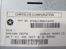 05 06 07 08 09 Chrysler 300 Magnum Aspen Commander Dakota GPS Radio Screen OEM