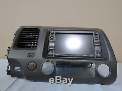 06-09 Honda Civic Navigation GPS Radio Touch Display Bezel OEM 39541-SVA-A010-M1