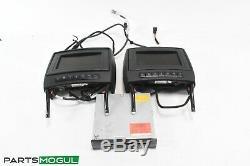 06-12 Mercedes R350 GL450 DVD Player Video Splitter Headrest Screens Set Pair