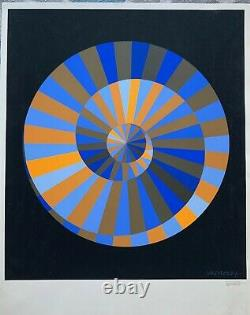 1972 Olympic Victor Vasarely Screen Signed Symbol Original 15 color Serigraph