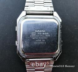 1980 All Original CASIO TC-500 (119) 1st Gen Touch Screen Calculator Japan DU