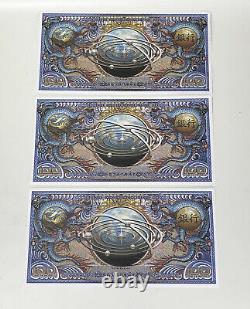 3 Firefly Serenity Movie Screen Used Alliance Currency Bank Notes Heist Prop