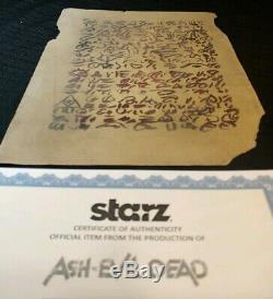 ASH vs EVIL DEAD Screen Used Necronomicon Prop Book of the Dead Page chainsaw 2