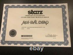 Ash vs Evil Dead original screen used horror prop Pablo skin page set COA rare