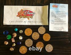 Authentic Pirates of the Caribbean Screen Used Movie Prop Gold Coin Gem Treasure
