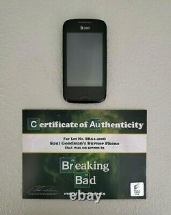 BREAKING BAD SCREEN USED PROP SAUL GOODMAN'S BURNER PHONE With SONY COA