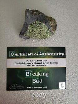 BREAKING BAD SCREEN-USED TV PROP HANK SCHRADER'S GREEN SAPHIRE with SONY COA