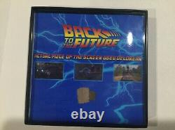 Back to the Future Movie Prop Screen Used DELOREAN PIECES hoverboard flux capaci