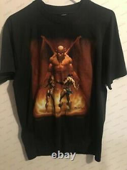 Boris Vallejo vintage original Conan & Demon art T shirt 1986 Screen Stars used