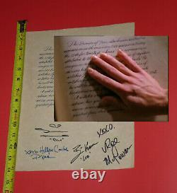 Charmed original screen used prop Book of Shadows page Autograph Autographed TV