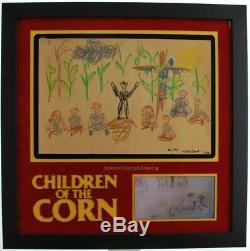 Children of the Corn (1984) Screen Used & Matched Prop with Director LOA! Rare