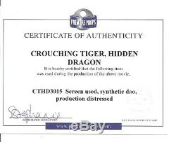 Crouching Tiger, Hidden Dragon Screen Used Dao Distressed Sword Coa