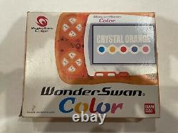 Crystal Orange WonderSwan Color. With IPS Screen Mod and Original Box