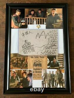 Deadwood HBO Series- Screen Used Prop- Drawing -Framed with Pictures with COA