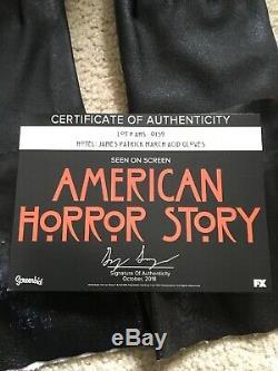 Evan Peters screen worn used prop Rubber Gloves American Horror Story Hotel COA