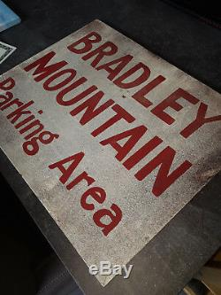 Extremely Rare! Friday the 13th Bradley Mountain Parking Area Screen Used Sign
