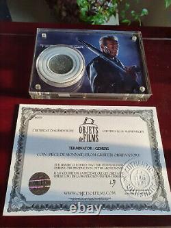 Extremely Rare! Terminator Genisys Original Screen Used Schwarzenegger Coin Prop