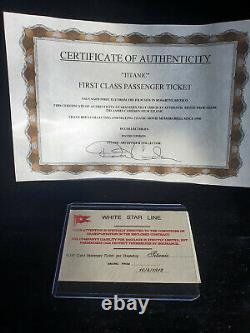 Extremely Rare! Titanic Original Screen Used First Class Passenger Ticket Prop