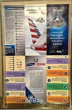 Genuine JURASSIC WORLD Screen Used Prop Visitor Map/Brochure COA
