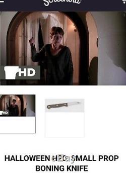 Halloween H20 Props Screen Used Knife And Michael Myers File Screenbid COA