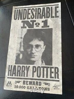 Harry Potter Screen Used Prop Undesirable NO. 1 Poster With COA