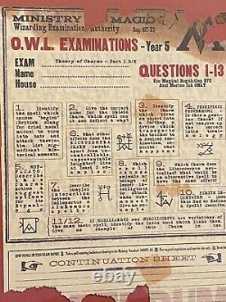 Harry Potter Ultra Rare Framed Screen Used Prop O. W. L. Exam COA