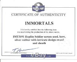 Immortals Screen Used Hero Hoplite Sword & Sheath (starringhenry Cavill) Coa