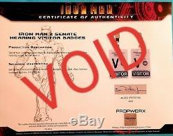Iron Man II Visitor Badge Screen Used Movie Prop, Memorabilia Marvel Avengers