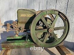 John Deere Hit Miss Stationary Engine Type E 1 1/2 HP Original Paint Silk Screen