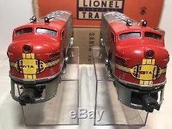 LIONEL Sante Fe F3 #2343 Screen Top Both Original Boxes. C7+