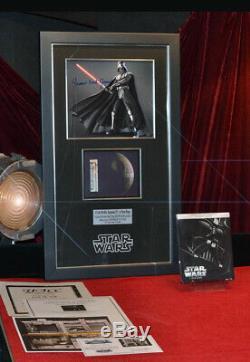 Large STAR WARS Screen-Used Prop DEATH STAR Signed JAMES EARL JONES COA DVD UACC