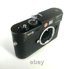 Leica M8/8.2, upgraded shutter, sapphire screen, black body, original packaging