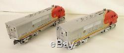 Lionel Postwar #2343 Santa Fe Aa Screen Top Diesel Locomotives-ex. Original