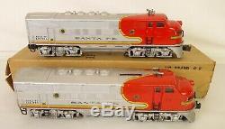 Lionel Postwar #2343 Santa Fe Aa Screen Top Diesel Locomotives-vg++ Original