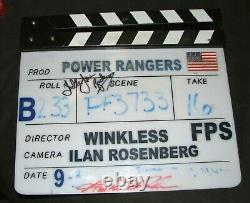 MIGHTY MORPHIN POWER RANGERS Set Screen Used Clapboard Clapper Auto Signed