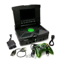 Microsoft Original Xbox Console Bundle with Intec 7.2 Screen SEE VIDEO Tested