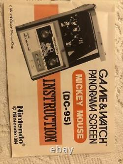 Nintendo Game & Watch MICKEY MOUSE Panorama Screen Vintage 1984 with Original Box