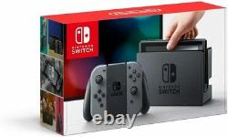 Nintendo Switch Console Grey with screen protector fitted and original box