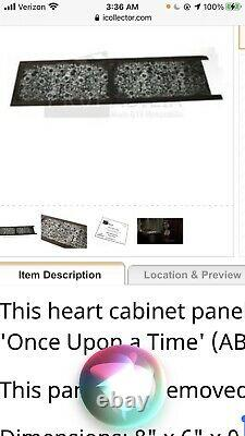ONCE UPON A TIME TV PROPRegina Heart Cabinet Panel On Screen Used 40x8