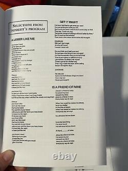 Official Glee Program Playbill Screen Used Prop Lot