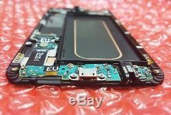 Original Dark Blue LCD Screen for Samsung Galaxy S6 Edge Plus G928F Screen Burn