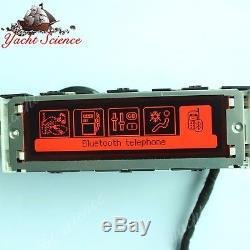 Original RED Peugeot 407 display screen, RD4 radio LCD Multi function clock