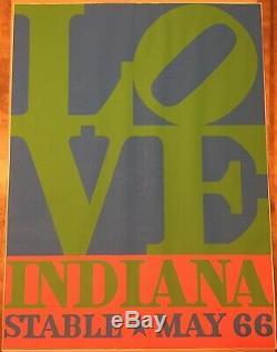 Original Robert Indiana 1966 Love Stable Exibition Screen Print Poster