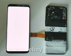 Original Samsung S8 Black LCD Screen with minor burn in Tested