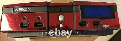 Original Xbox Red With Rare Xecuter 3 Mod Chip, Control Panel, LCD Screen, 60gb