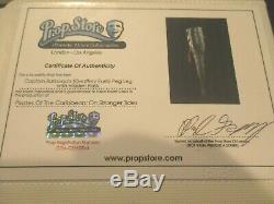 Pirates of the Caribbean BARBOSSA PEG LEG with Flask Prop Screen Used COA Disney