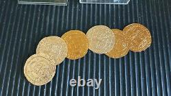 Pirates of the Caribbean Screen-Used Coins Lot of 6 Prop Disney COA Depp Bloom