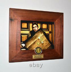 Prop COIN Screen-Used NATIONAL TREASURE, Signed Nic Cage, Blu Ray DVD, COA UACC