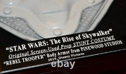 RARE Star Wars COSTUME PROP, Screen-Used REBEL Rise of Skywalker COA Case UACC